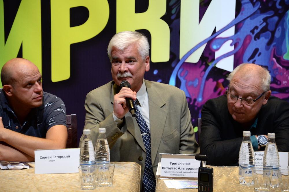 На фото: художественный руководитель Белгосцирка Витаутас Григалюнас.