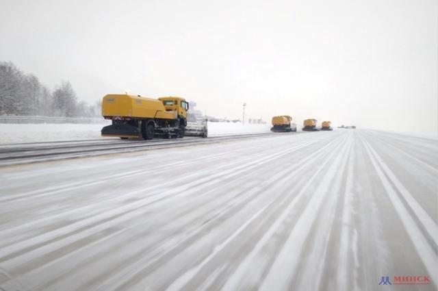 снег аэропорт