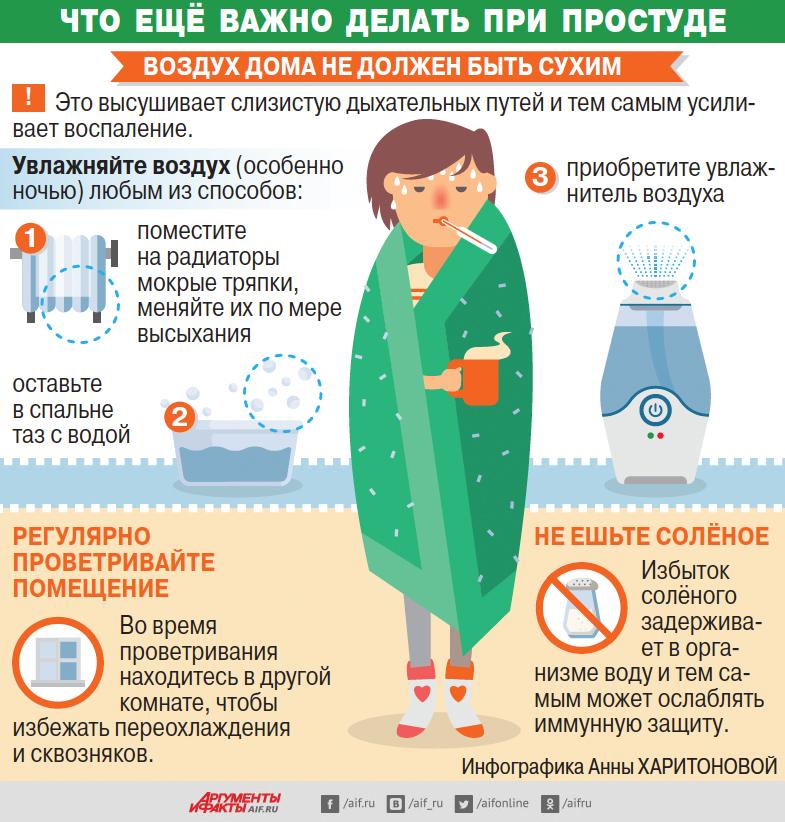 Что еще важно делать при простуде