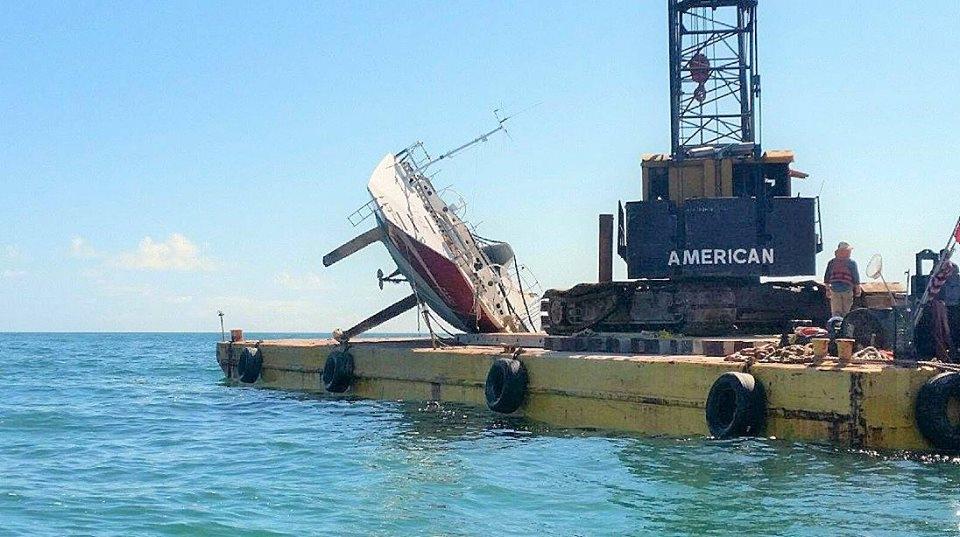 Транспортировка Фазиси после урагана