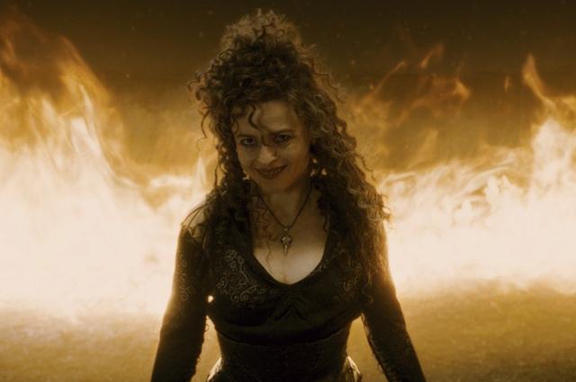 Актриса Хелена Бонем Картер в роли темной волшебнице Беллатрисы Лестрейндж в фильме «Гарри Поттер и Принц-полукровка».