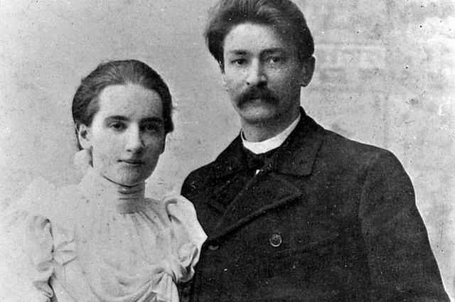 Адам Богданович и его вторая жена Александра Павловна, начало ХХ века.