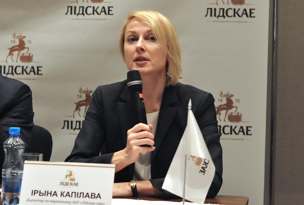 На фото: директор по маркетингу ОАО «Лидское пиво» Ирина Капилова.