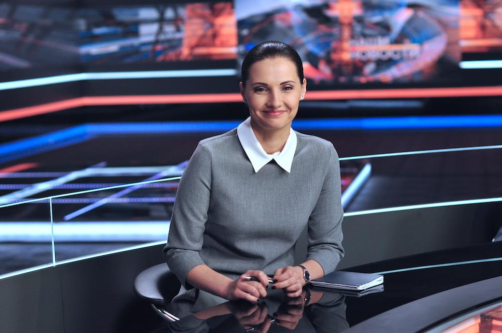 На фото: ведущая телеканала ОНТ Мария Лемешева.