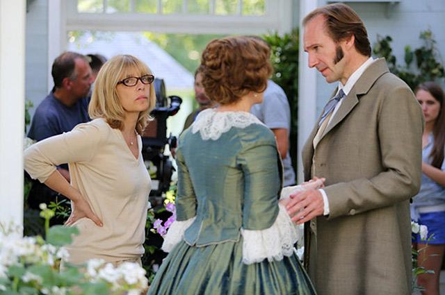Вера Глаголева и Рэйф Файнс на съемках фильма «Две женщины».