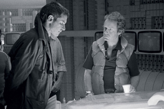 Ридли Скотт и Харрисон Форд на съемках фильма.