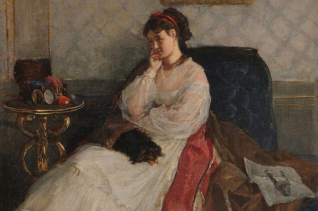 Годы совместной жизни с первой женой Евгенией были недолгими, но полными идиллии. «Дама с собачкой», 1868 г.