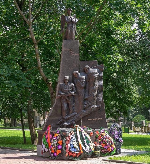 Памятник воинам-интернационалистам в Новогрудке.