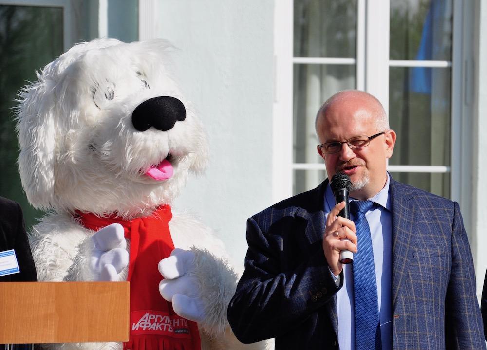 На фото генеральный директор РУП «Белпочта» Владимир Матусевич.