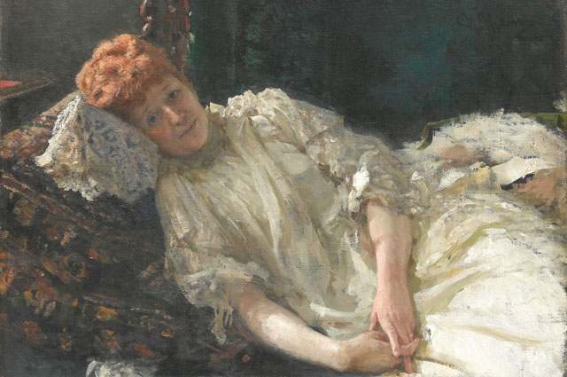 Портрет Луизы де Мерси-Аржанто кисти Ильи Репина.