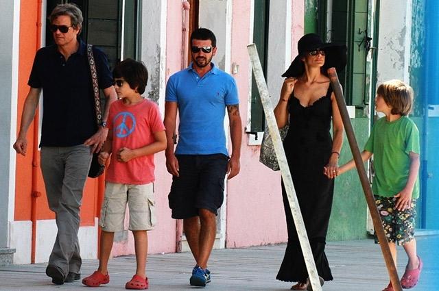 Семейство Фертов на прогулке.