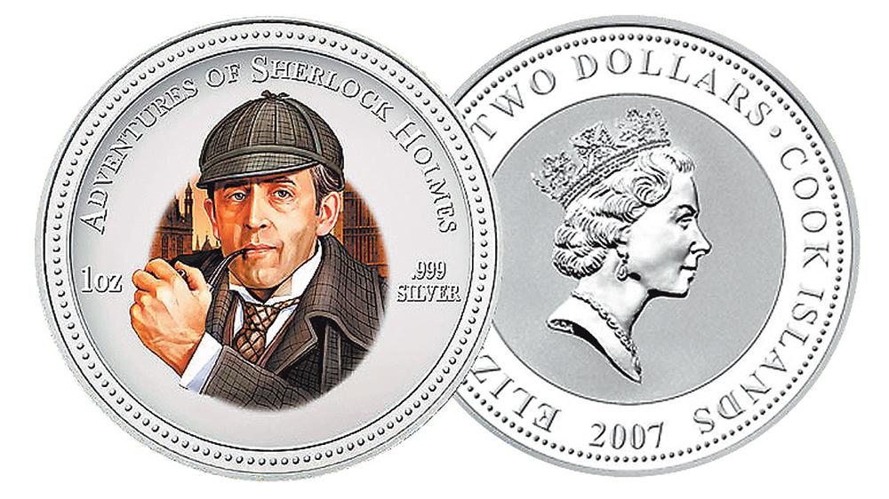 Коллекционная монета 2007 г., выпущенная новозеландским казначейством. Монета имеет номинал 2 долл. и сделана из серебра 999-й пробы.