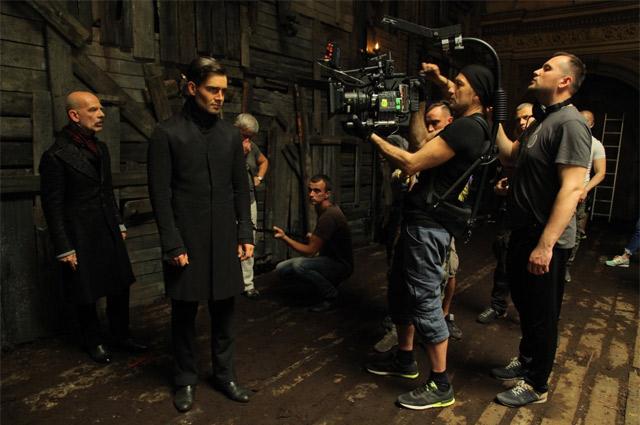 Пётр Федоров на съёмках исторического триллера «Дуэлянт».