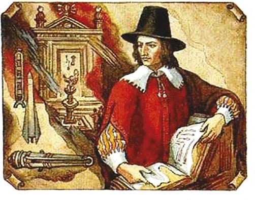 Казимир Семенович (1600-1651) - инженер и теоретик артиллерии, изобретатель многоступенчатой ракеты.