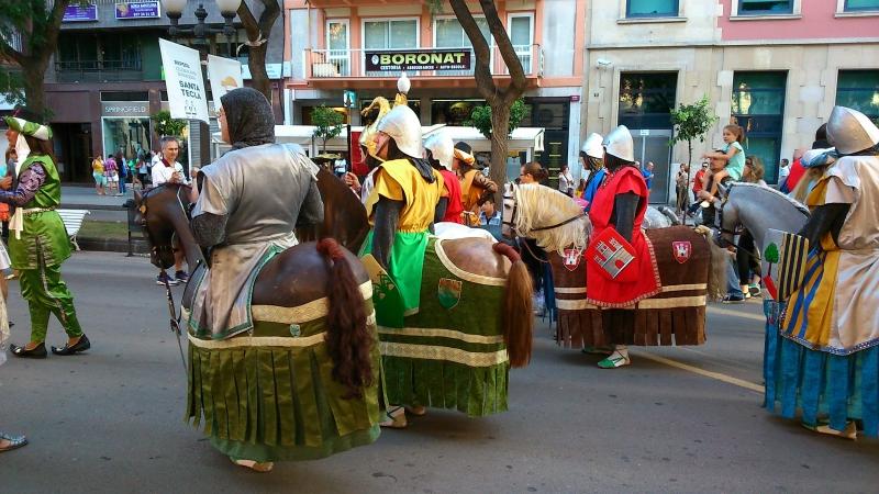 Подготовка к празднику Santa Tecla.
