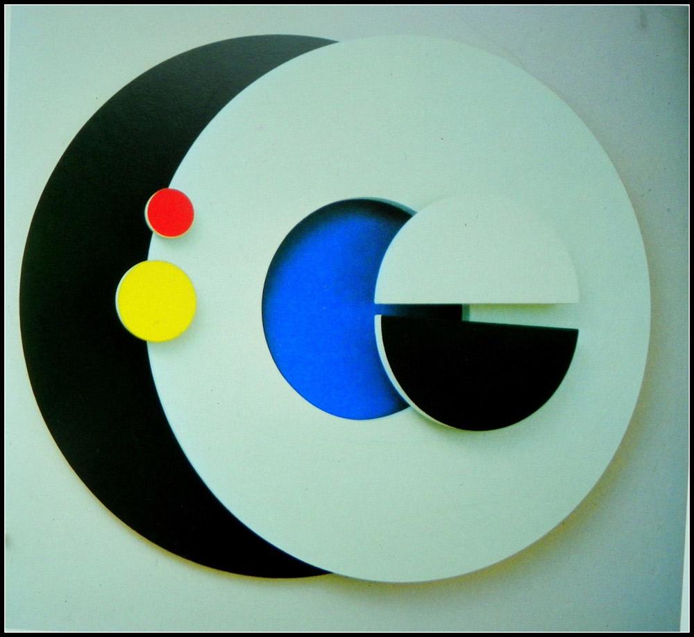 Искусство Николая Казака воплощено в геометрических формах.