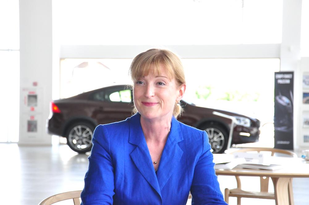 На фото: посол Швеции в Беларуси Кристина Юханнесон.