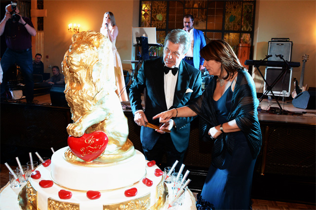 Лев и Ирина Лещенко на праздновании 75-летия артиста, 2017 г.