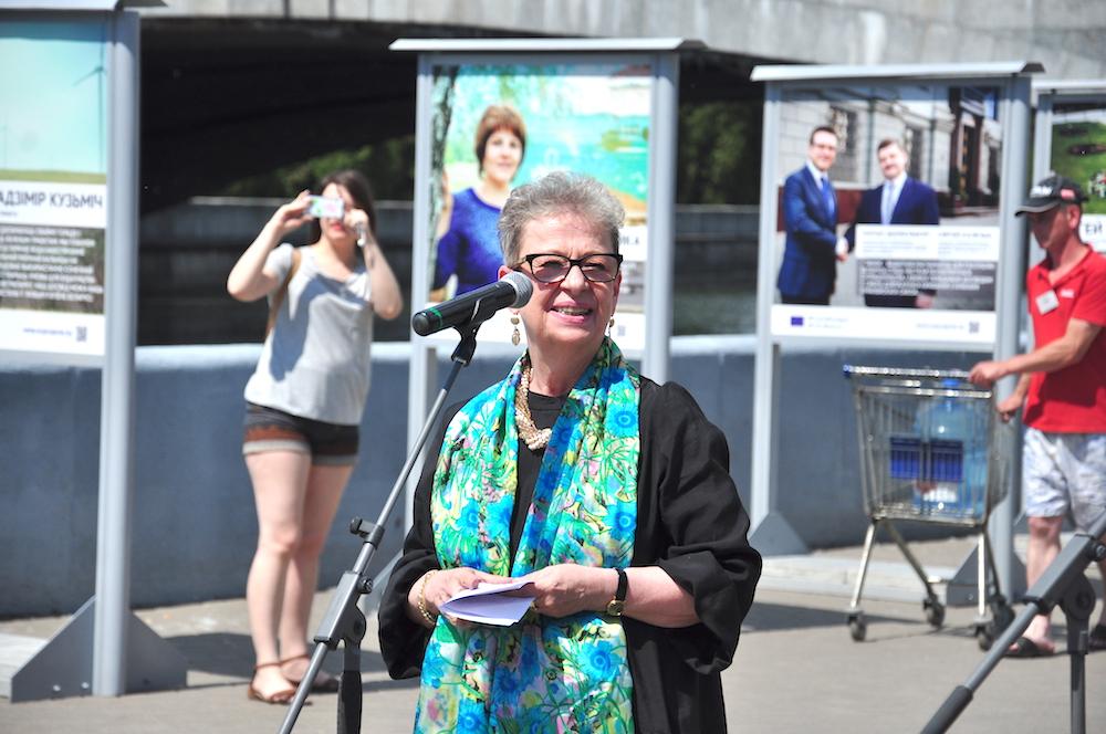 На фото: глава представительства ЕС в Беларуси Андреа Викторин.