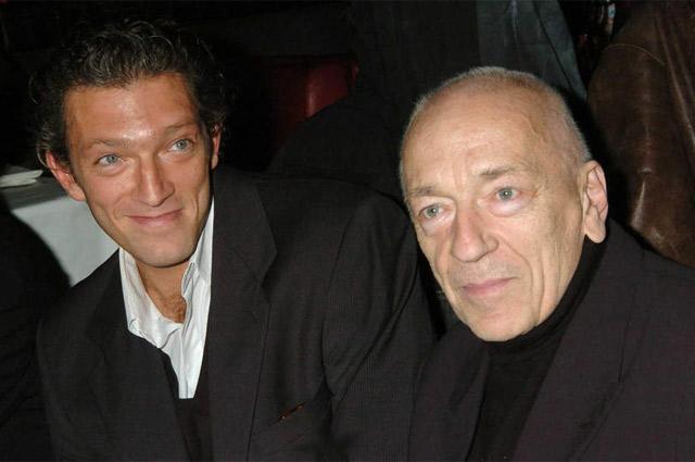 Венсан Кассель с отцом, легендарным французским актером Жан-Пьером Касселем.