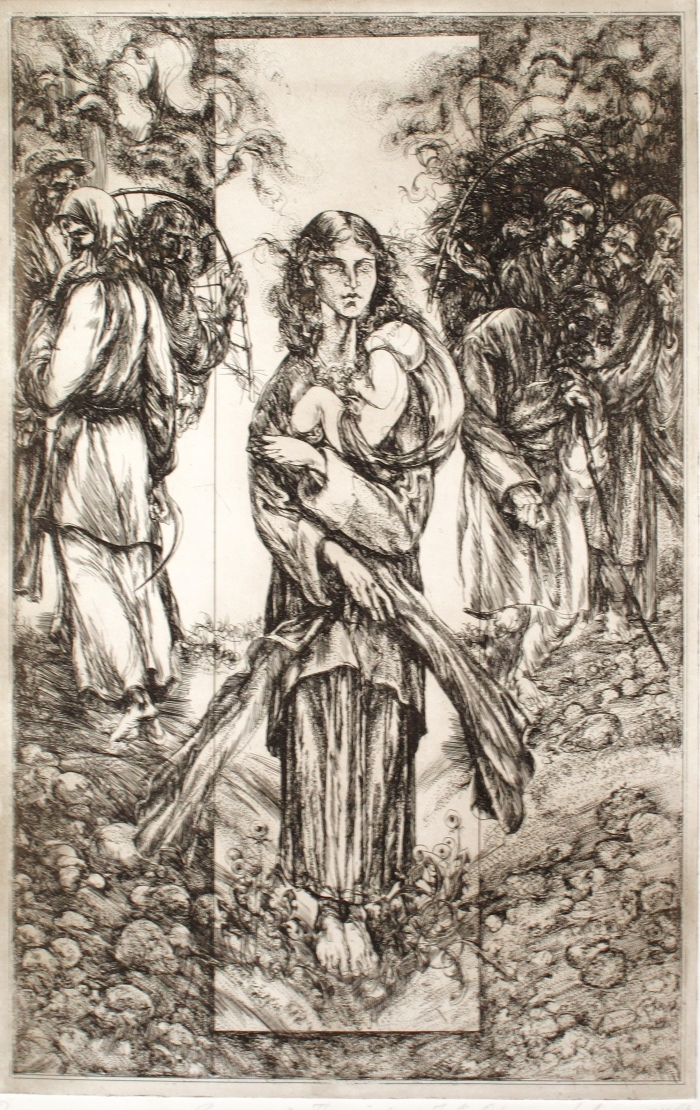 ілюстрацыя Анатоля Александровiча да кнігі Якуба Коласа