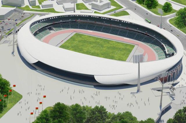 После нынешней реконструкции 70-75% трибун будут прикрыты куполом, который визуально производит впечатление воздушной шапки над ареной стадиона.