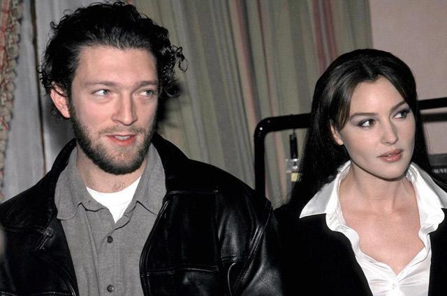 Венсан Кассель и Моника Беллуччи на премьере криминального триллера «Доберман», 1997 г.