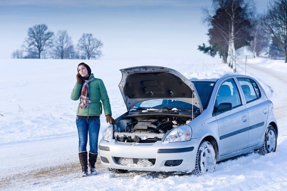 мороз, автомобиль,