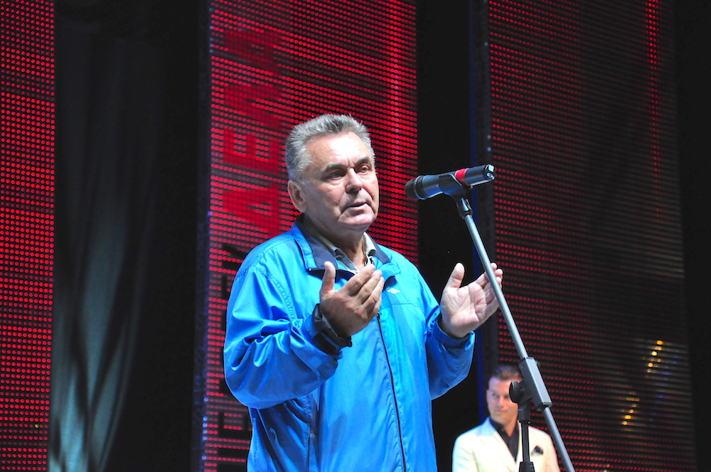 На фото: глава общественного совета, определяющего победителей, академик Петр Никитенко.