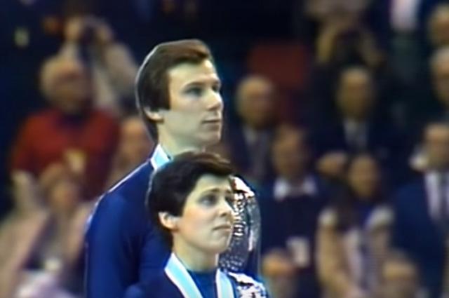 Зимние Олимпийские игры 1980 г. Ирина Роднина и Александр Зайцев.