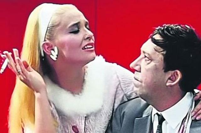 Светлана Светличная и Юрий Никулин в фильме «Бриллиантовая рука», 1969 г.