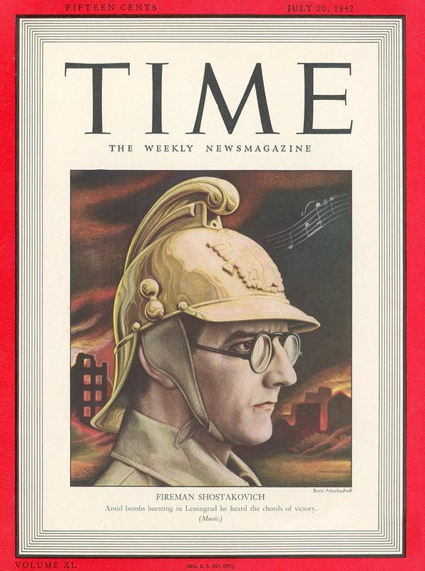Дмитрий Шостакович на обложке журнала «Time».